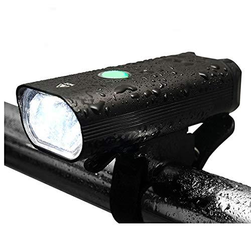 CLOUDH Luz Bicicleta LED, Luz de Bicicleta Delantera Recargable por USB, 3 Modos de Iluminación Luces de Bicicleta de Carretera de Montaña, IPX-6 Impermeable, para Ciclismo Nocturno, Camping