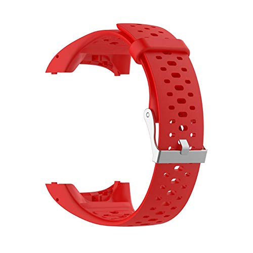 Correa de silicona de repuesto para reloj Polar M400 M430 GPS para correr, reloj deportivo inteligente con herramientas (rojo)