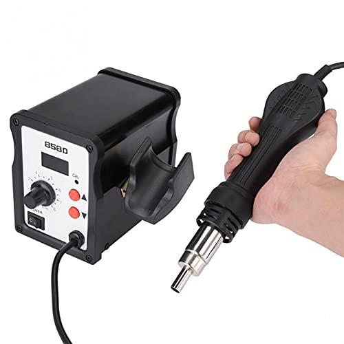 Wutingkong 1 Set 858D Estación de pistola de calor 700W LED LED Pistola de aire caliente Digital Estación de retrabajo con 3 boquillas Temperatura ajustable Gun Hot Gun UK Enchufe