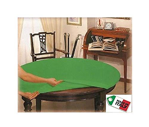 V.I.P. VERY IMPORTANT PILLOW Mollettone Copri Tavolo 140 con Elastico salvatavolo Idea Regalo Poker, Tela, Rotondo diam cm 135, Diametro 140 CM