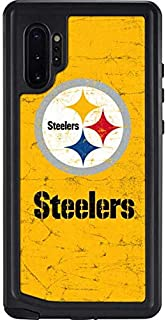 Skinit Waterproof Phone Case for Galaxy Note 10 Plus - Officially Licensed NFL Pittsburgh Steelers - Alternate Distressed Design