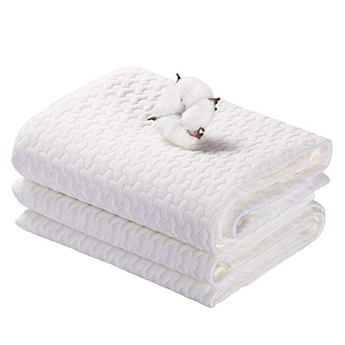 Inkontinenzauflage Waschbar 70x100cm Baby Matratzenauflage Wasserdicht Matratzenschoner Weiß Matratzenschutz Bettunterlage für Kinder Erwachsene Haustier YOOFOSS