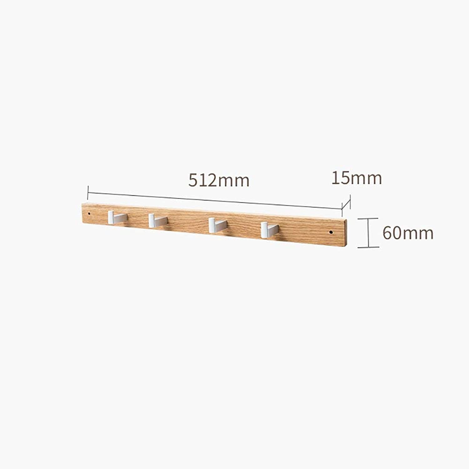 Shiyanghang Simple Hall Wall Solid Wood Coat Rack Wall-Mounted Racks Bedroom Living Room Simple Hanger Porch Hanger (Size   A)