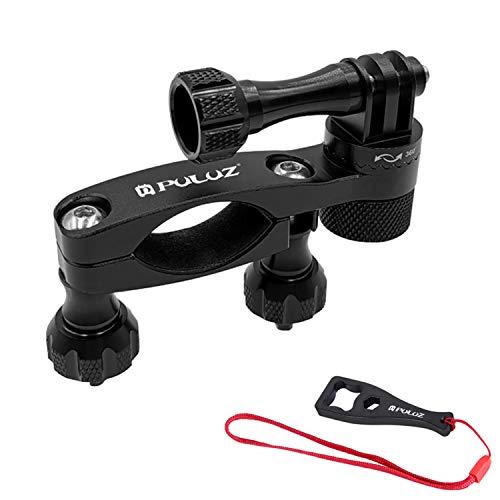 Soporte para manubrio de bicicleta/bicicleta/motocicleta (rotación de 360 ° y bloqueo en cualquier dirección) compatible con tija de sillín, soporte de mástil de esquí para...