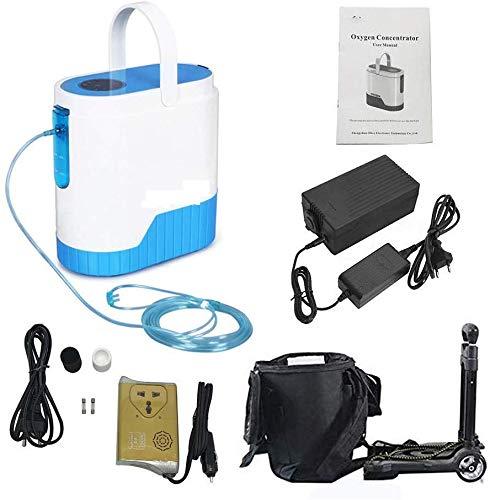 Sauerstoffkonzentrator für die Reise,sauerstoffgerät, mit 10000 mAh Lithiumbatterie sauerstoffkonzentrator mobil 1-5 L/min tragbarer Einstellbarer