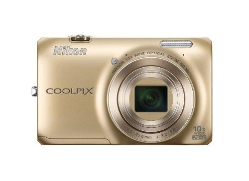 Nikon Coolpix S6300 Fotocamera Digitale Compatta, 16 Megapixel, Zoom 10X, 3200 ISO, LCD 2,7', colore: rosso