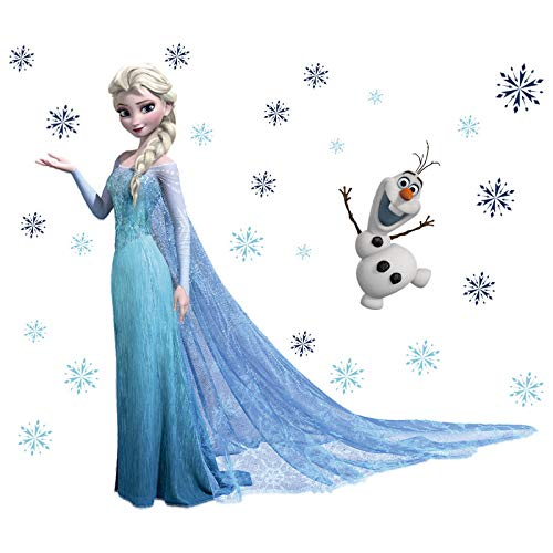 Kibi Wandaufkleber Babyzimmer Eiskönigin (Frozen) Wandsticker Frozen Disney für Kinderzimmer Living Room Removable Prinzessin Elsa Wandtattoo Kinderzimmer Frozen Olaf
