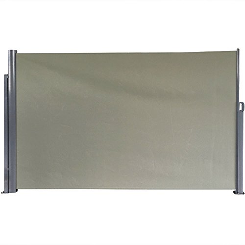 Sunnydaze Patio Retractable Privacy Wall, Outdoor Folding Screen Divider with Steel Support...