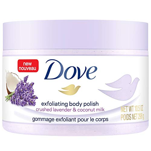 Dove Exfoliating Body Polish Crushed Lavender & Coconut Milk, 10.5 oz (Pack of 2)