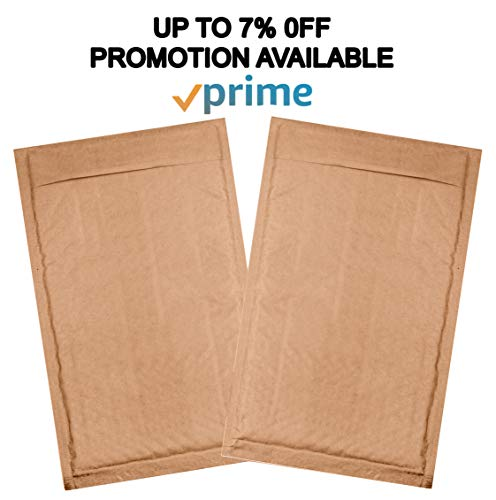 10 Pack Kraft padded envelopes 4x7. Bubble Mailers 4 x 7 Natural Kraft bubble envelopes. Peel and Seal. Brown cushion envelopes for mailing, packing and packaging. Shipping mailers in bulk, wholesale. Photo #6
