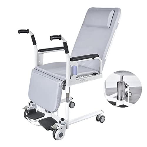 FANGX Patient Lift a casa, Sedia a rotelle per Anziani paralizzati Completamente sdraiata a 180°/ Regolazione del Sollevamento Idraulico/con Schienale Rimovibile, carico 264 libbre
