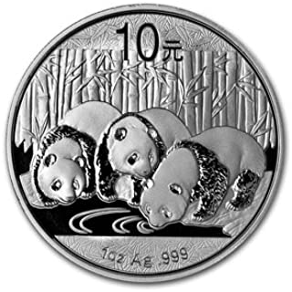 2013 China 1 oz Silver Panda Coin 10 YUAN Brilliant Uncirculated