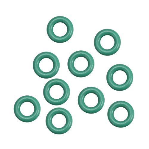 sourcing map 10 Stück Fluorkautschuk O Ringe, 1,5 mm breite Dichtung aus Gummi grün 3 mm x 6 mm x 1,5 mm