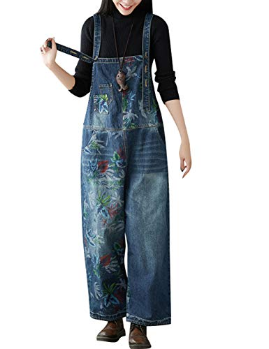 Youlee Dames Breed been Denim jumpsuits Retro Casual tuinbroek
