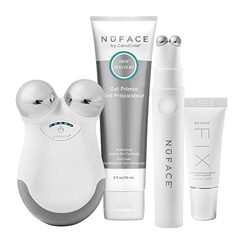 NuFACE NuFACE Mini + FIX Petite Facial Kit, Mini Device + Hydrating Leave-On Gel Primer, FIX Device + FIX Serum | Devices to Lift Contour Tone Skin + Reduce Look of Wrinkles, 2.6 oz.