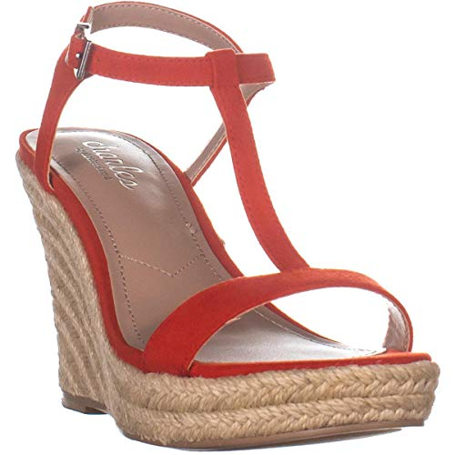 CHARLES BY CHARLES DAVID Lili Espadrille Wedge Sandal Candy Red 6 M