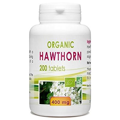 Organic Hawthorn 200 tablets 400 mg