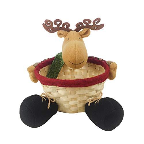 primrosely Weihnachten Süßigkeiten Korb Korb Geflochten Einkaufskorb Geflochten Geschenkkorb Leer Weihnachtsbaum Aufbewahrungsbox Weißer Schokoladenkorb Geschenkkorb Weihnachts Aufbewahrungsbox