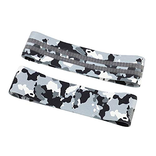 HEWXWX Widerstandsband (Verbesserte Version) Yoga (Tarnung) Anti-Rutsch-Gummischlaufen HüFtgummiband Indoor-Training Workout Fitness Krafttraining Pilates-TrainingsgeräTe,Camouflagegray-L