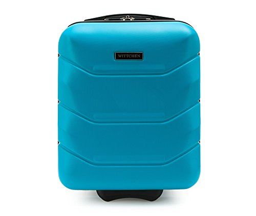 WITTCHEN Koffer – Handgepäck | hartschalen, Material: ABS | hochwertiger und Stabiler | Blau | 25 L | 32x25x42 cm
