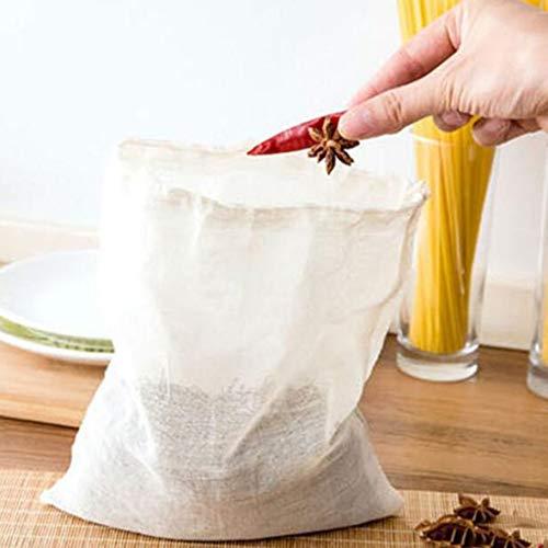 Heaviesk Sacs filtrants pour Le thé 1 Pcs Papier Non-tissé Vide Dessiner Chaîne Sachets À Thé Thermoscellant Filtre Herb Loose Tea Bag
