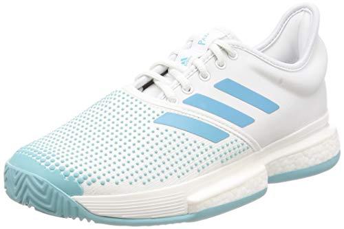adidas Damen Solecourt Boost W X Parley Fitnessschuhe, Mehrfarbig (Blanco/Azuvap/Espazu 000), 38 EU
