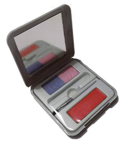 Outdoor Meisje Luxe Handtas Kit Ooglippenstift Palet 01 Blond Paars Roze Oogschaduw Lippenseel