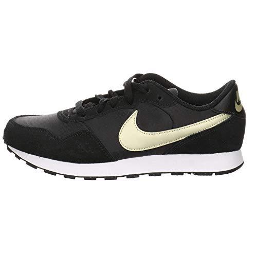 Nike MD Valiant (GS), Zapatillas para Correr, Black Mtlc Gold Star White, 36.5 EU