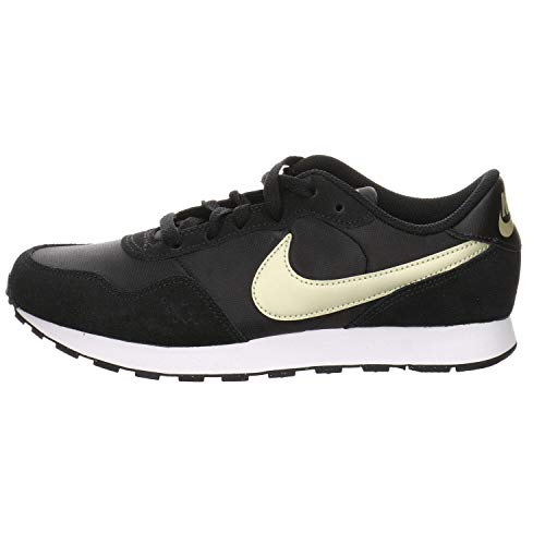 Nike MD Valiant (GS), Zapatillas para Correr, Black Mtlc Gold Star White, 36.5 EU