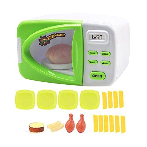 Kinderküche Mikrowelle Spielzeug, Kinder-Mikrowelle Spielzeug Set mit Licht, Mini Pretend Rollenspiel Play Küche Spielzeug für Kinder