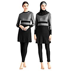 New modern looking modesty wear. Excellent quality and it keeps you covered during swimming Please choose your size carefully. You may find the specific size data in the product description No Chest pad, No Steel Support The full cover swimsuits not ...