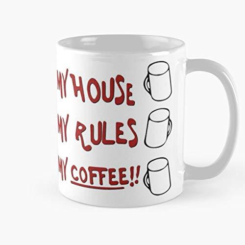 Shoprkcb Novelty Rules Knives Out Replica My Cup Present House Coffee Day Fathers Best 11 oz Kaffeebecher - Nespresso Tassen Kaffee Motive
