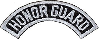 JROTC/ROTC Honor Guard Tab Sew-On Patch  White on Black
