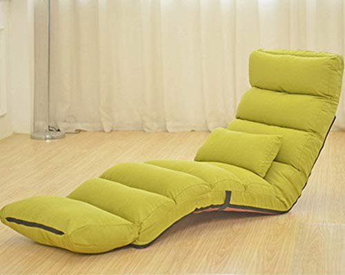 Pliant Multi-function Chaise de sofa paresseux, Tatami Canapé-lit Amovible pour laver Canapé-lit paresseux Salon méridienne Dossier Chaise lounge Loisir-Vert (longueur) 205x56x20cm(81x22x8inch)