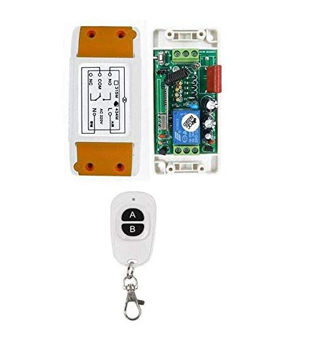 Calvas best smart home 220 v 1 ch rf remote control switch 1 receiver + 1 transmitter 433/315