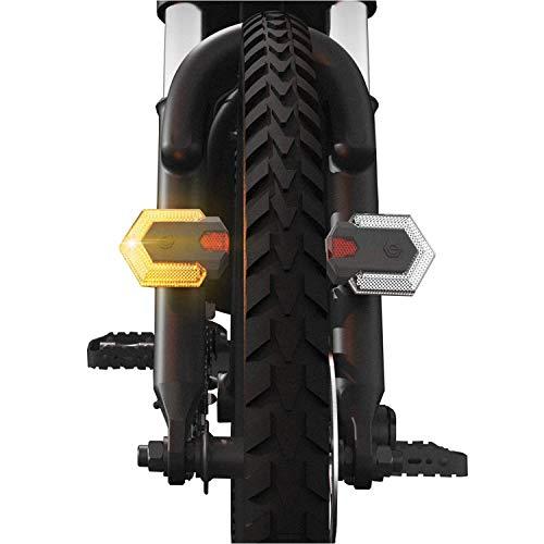 GY-Lmap Bike Panorámica Gire Signals Frente y luz Trasera con Control Remoto, Impermeable, fácil instalación de la luz de la Cola de la Bicicleta para la luz de Advertencia de Seguridad de Ciclismo