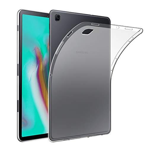 QULLOO Custodia Samsung Galaxy Tab S5e 10.5 Cover Trasparente in Cristallo Custodia Protettiva in Silicone TPU Custodia Aanti-graffio per Samsung Tab S5e 10.5
