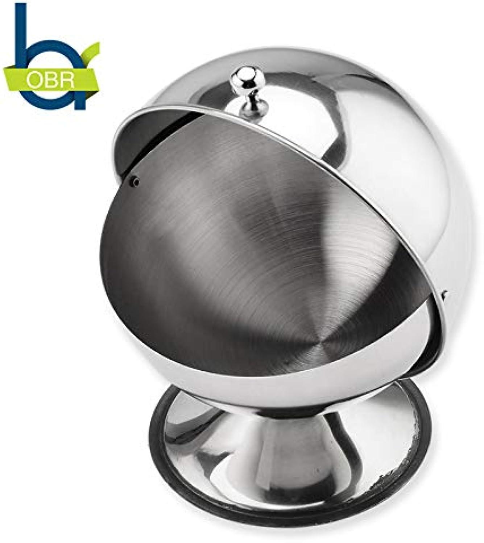 OBR Stainless Steel Coffee Sugar Bowl Sugar Tank Coffee & Tea Accessories Flip Cover Spherical Anti-dust Kitchen Gadget