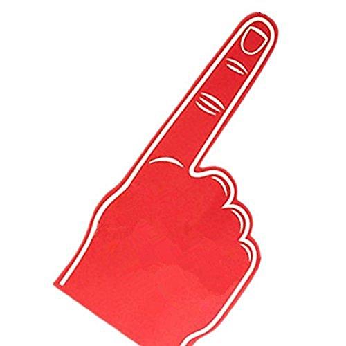 Palmo stampato gigante EVA spugna guanto della mano a punta dito - Rosso
