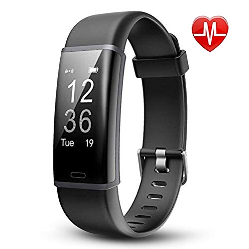 Lintelek Fitness Tracker, Customized Activity Tracker HR Monitor, Fit Watch with 14 Sports Modes, Bluetooth Pedometer Watch, Calorie Counter for Women, Men and Kids
