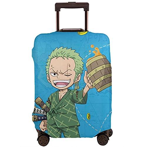 Anime One Piece Roronoa Zoro Maleta Protector Funda Lavable Diseño 3D 4 Tamaños para la mayoría de Equipaje Bolsa Protectora Cremallera
