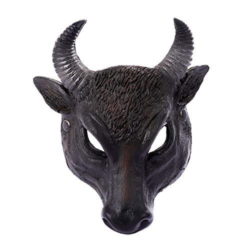 WSJDE Gesichtsmaske für Halloween, Party, Cosplay, Rinder, Kopfmaske für Erwachsene, Unisex, Kostüm-Zubehör