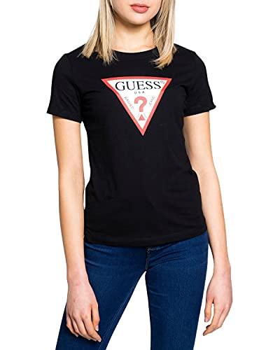 Guess T-Shirt Donna Cotone Biologico Regular Fit Nero ES21GU08 W1RI00I3Z11