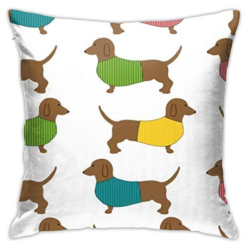 Dachshund Dog Cute Wallpaper Soft Square Throw Pillow Covers Cushion Case 45X45CM
