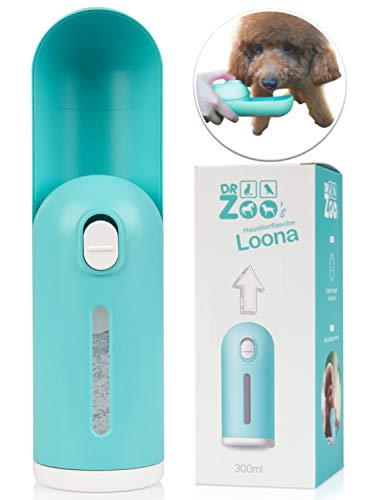 DR Zoo Haustier-Flasche Loona die ausziehbare Hunde-Trinkflasche als Wasser-Flasche für unterwegs