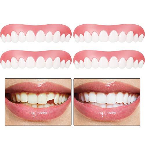 Kosmetische Zahn Sofortig Furniere Zahnersatz Abdeckung Fehlende Zähne Prothesenzahn Provisorisch Zahn Füllung Kit Komfortable Oberfurnier Kosmetische Zähne für Männer und Damen (4)