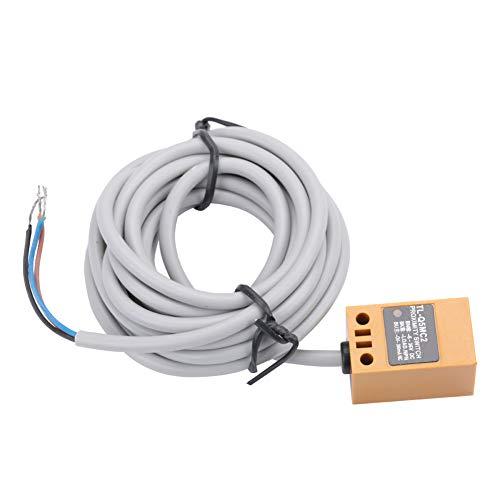 Interruptor de sensor de proximidad NPN - CC Sensor de aproximación NPN Interruptor de sensor de proximidad inductivo Interruptor de sensor, 3 cables normalmente distancia cercana 5 mm