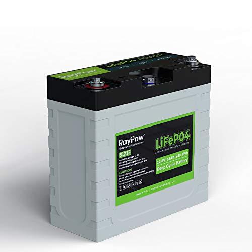 RoyPow 12V 18Ah リン酸鉄リチウムイオンバッテリーLiFePO4 電動リール用バッテリー 3500サイクル BMSバッテリシステム内蔵 子供用スクーター、RV 魚群探知機、ソーラーシステム、UPSなどに対応