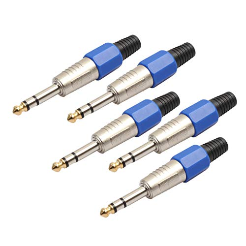 FLAMEER 5X 6.35mm Adaptadores de Audio Monoaural TRS Solo Canal...