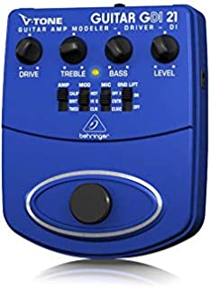 Behringer Guitar Amp Modeler/Direct Recording Preamp/DI Box GDI21